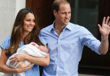 Kate e William com o príncipe George