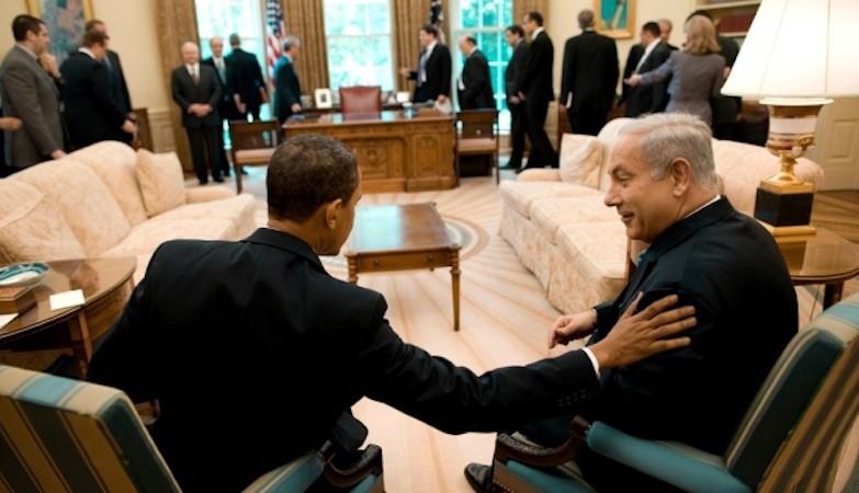 Barack Obama com Benjamin Netanyahu