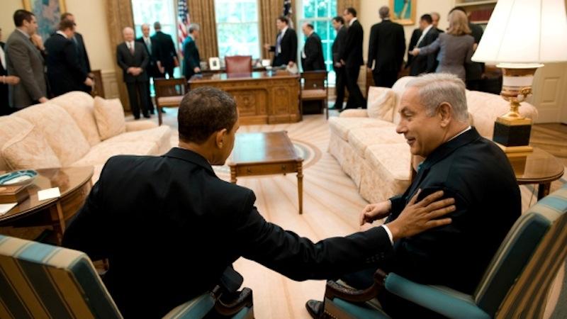 Barack Obama com Netanyahu (foto: Pete Souza / Whitehouse)
