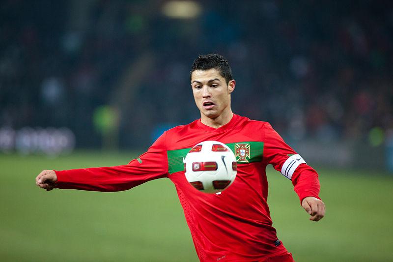 Cristiano Ronaldo na Seleção Nacional (foto: Ludovic Péron / wikimedia)
