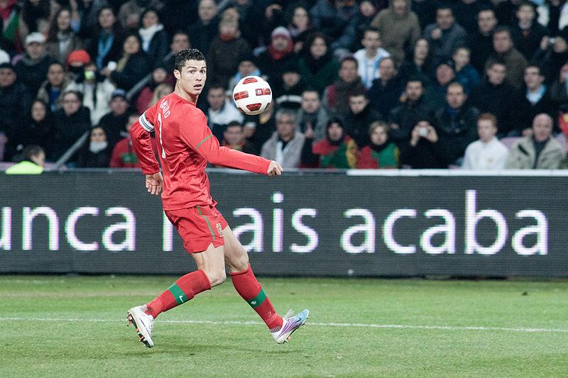 Cristiano Ronaldo na Seleção Nacional (foto: Fanny Schertzer / wikimedia)