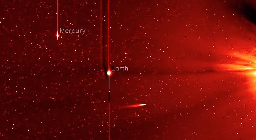 Cometa ISON aproxima-se do Sol foto: NASA)