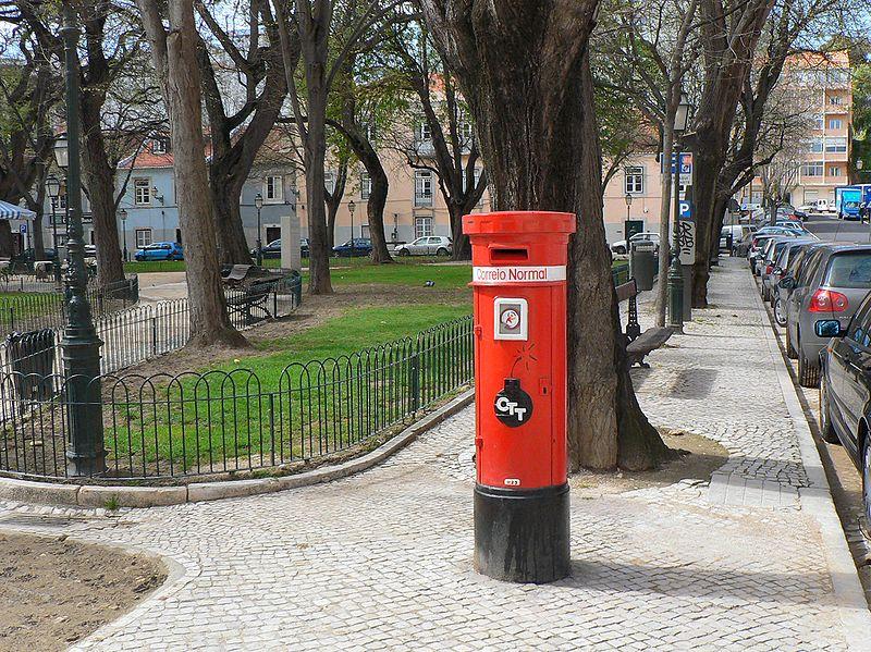 Marco de Correio no Jardim das Amoreiras em Lisboa (foto: Paulo Juntas / wikimedia)