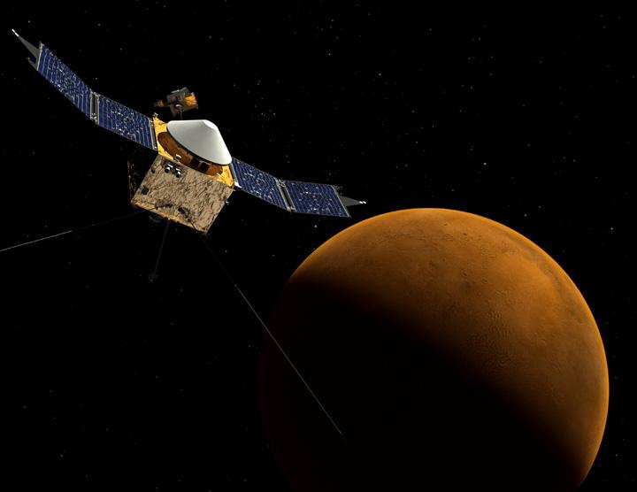 A sonda MAVEN irá descobrir os mistérios do fm da água no Planeta Vermelho (foto: Goddard Space Flight Center / NASA)