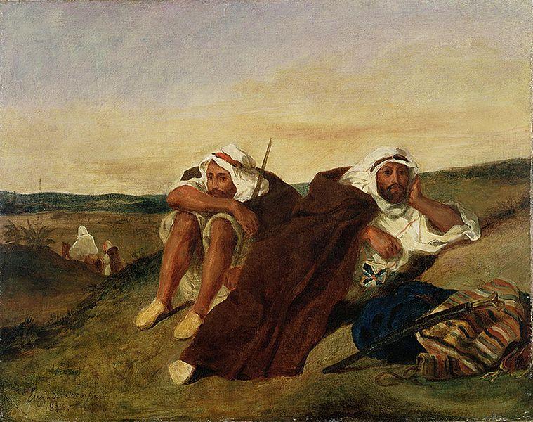Les Arabes d'Oran, pintura de Eugène Delacroix (foto: Tokyo Fuji Art Museum / wikimedia)