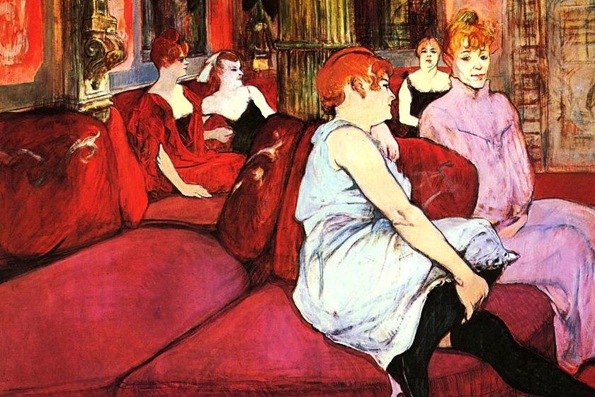 Au Salon de la rue des Moulins, óleo de Henri de Toulouse-Lautrec  (foto: Musée Toulouse-Lautrec Link)