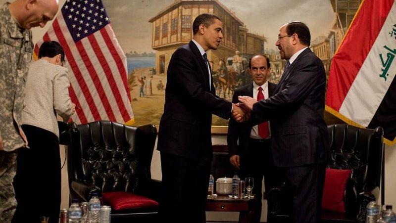 O primeiro-ministro do Iraque, Nouri al-Maliki, com o presidente dos EUA, Barack Obama (foto: Pete Souza / Whitehouse)