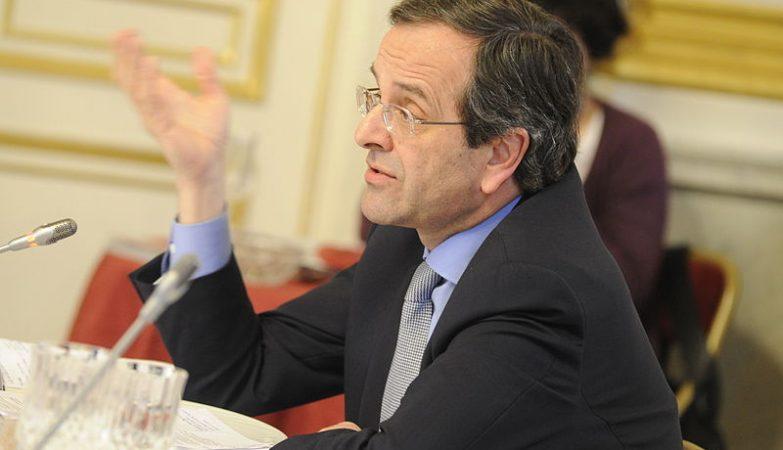 O primeiro-ministro grego, Antonis Samaras