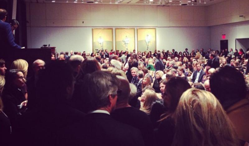 """""""Três estudos de Lucian Freud"""", de Francis Bacon, é a obra de arte mais cara de sempre (foto: Christie's / Instagram)"""