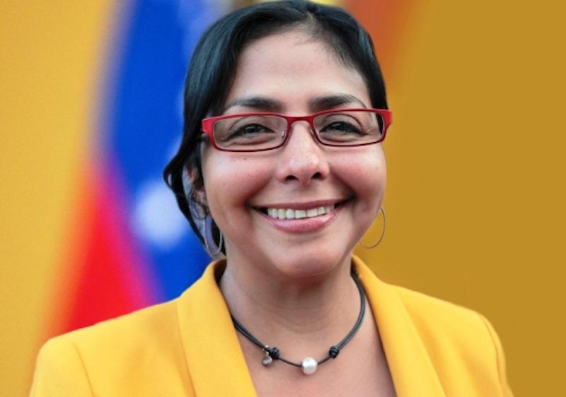A Ministra do Poder Popular para a Comunicação e Informação da Venezuela, Delcy