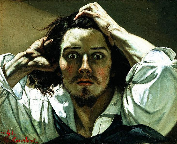 O Homem Desesperado, auto-retrato a óleo de Gustave Courbet (colecção privada / wikimedia)
