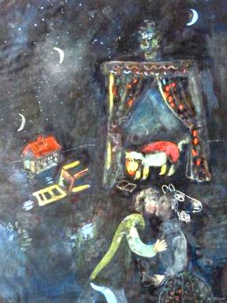 """Allegorical scene"", quadro de Marc Chagall escondido por Nazis (foto: Melder / LostArt.de)"