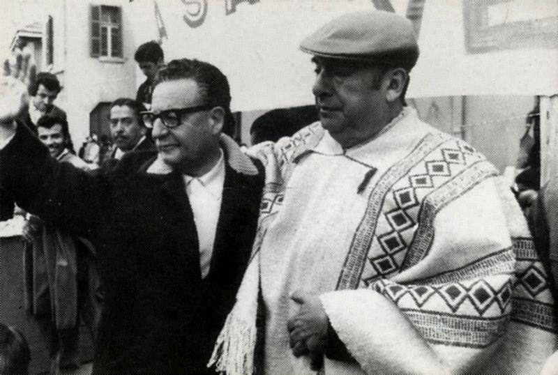 Salvador Allende com Pablo Neruda (foto: Biblioteca del Congreso Nacional de Chile / wikimedia)