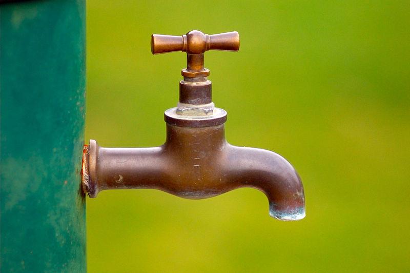 Torneira sem água