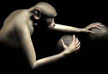 Macaco move braço virtual com o cérebro
