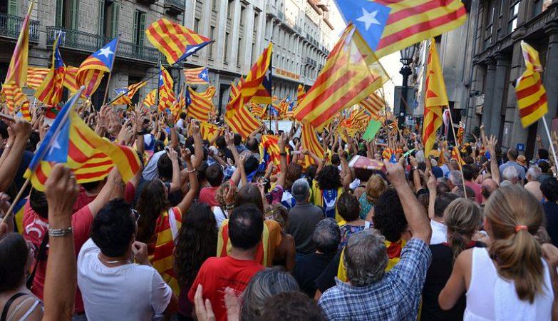 Manifestação pela independência da Catalunha