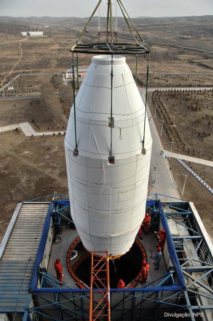 O satélite sino-brasileiro CBERS-3 (foto: divulgacao / INPE)