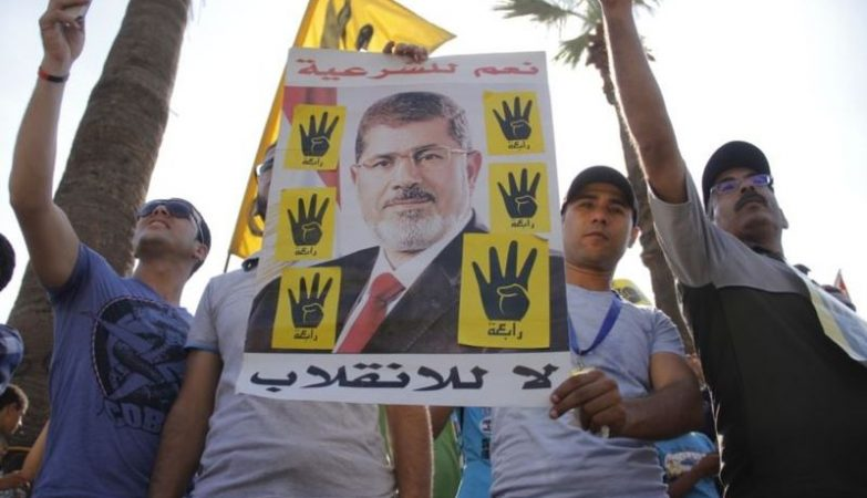 Apoiantes do ex-presidente do Egipto,  Mohamed Morsi