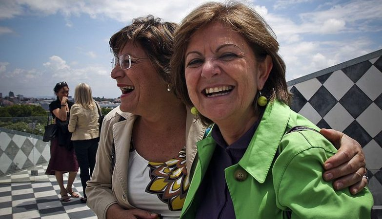 Euro-deputadas do PS, Ana Gomes e Elisa Ferreira