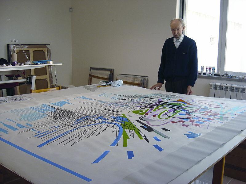 Nadir Afonso e a sua arte (foto:  Mafmafmaf / wikimedia)