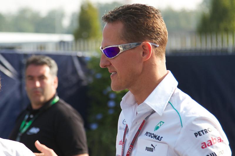 O automobilista Michael Schumacher, 7 vezes campeão do Mundo de Fórmula 1