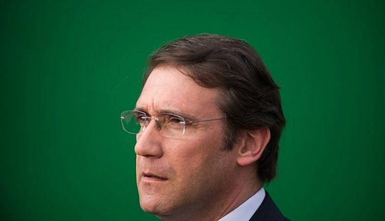 O Primeiro Ministro Pedro Passos Coelho