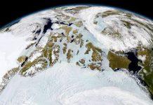 O Ártico fotografado po um satélite em órbita baixa