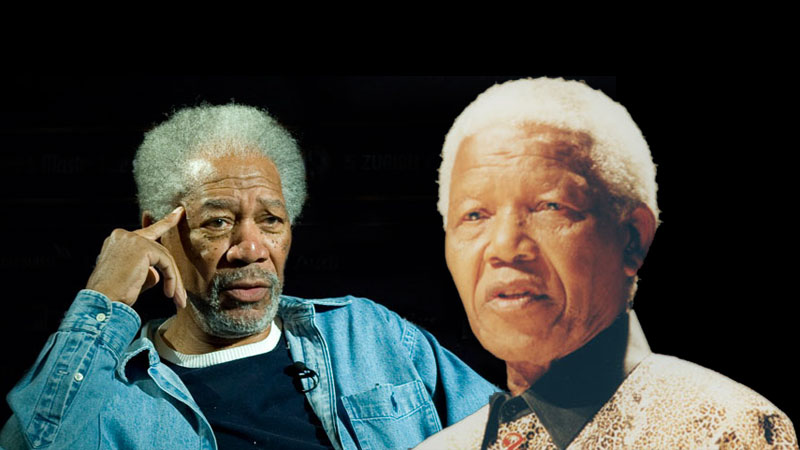 Morgan Freeman interpretou Nelson Mandela no filme Invictus,