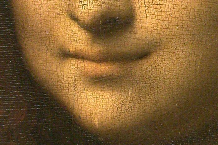 Mona Lisa detalhe da boca