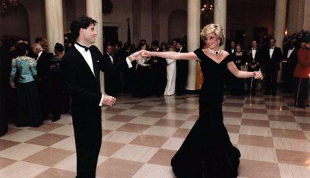 John Travolta com a Princesa Diana