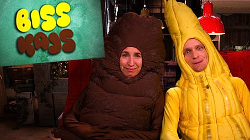 Xixi e Cocó, Biss och Kajs, programa infantil da TV Sueca (foto: SVT)