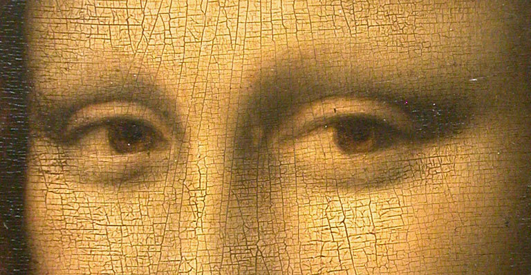 Mona Lisa detalhe dos olhos