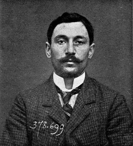 Foto de Vincenzo Peruggia tirada pela polícia italiana em 1909