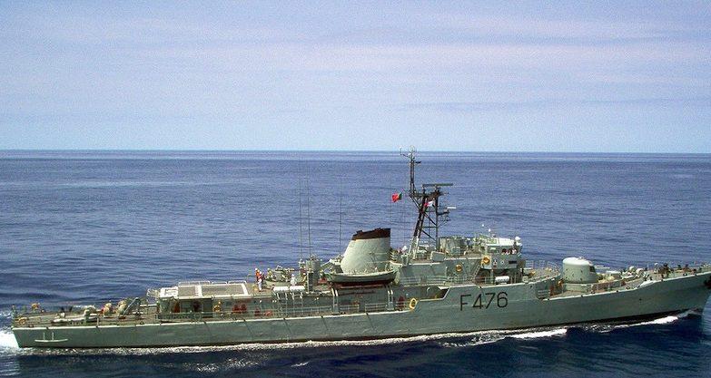 A corveta Jacinto Cândido, da Marinha Portuguesa