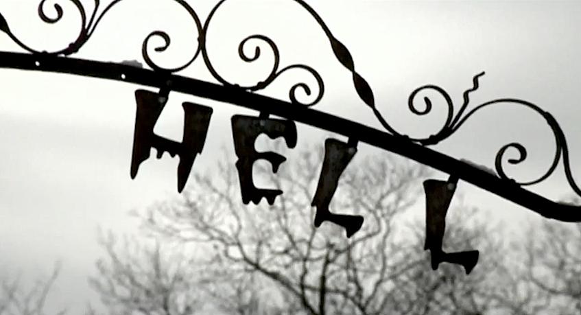 Entrada para o Inferno: Placa da cidade de Hell, Michigan, EUA