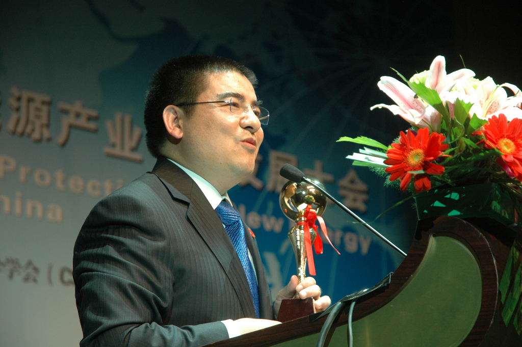 O empresário e filantropo Chen Guangbiao