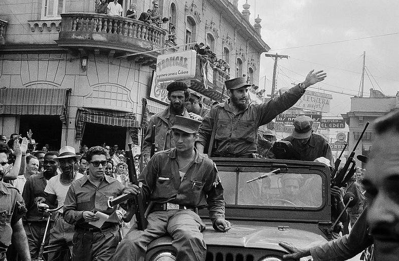 Entrada de Fidel Castro em Havana em 1959