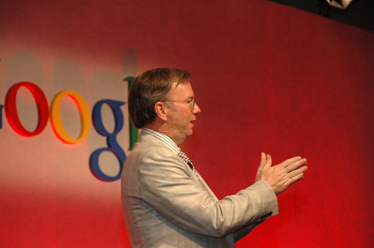 O presidente-executivo da Google, Eric Schmidt