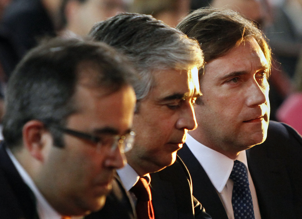Pedro Passos Coelho com Paulo Rangel e José Pedro Aguiar Branco