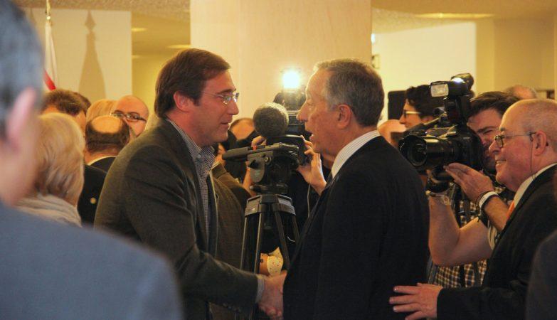 Pedro Passos Coelho e Marcelo Rebelo de Sousa na comemoração do trigésimo aniversário dos TSD. 11 de janeiro de 2014.