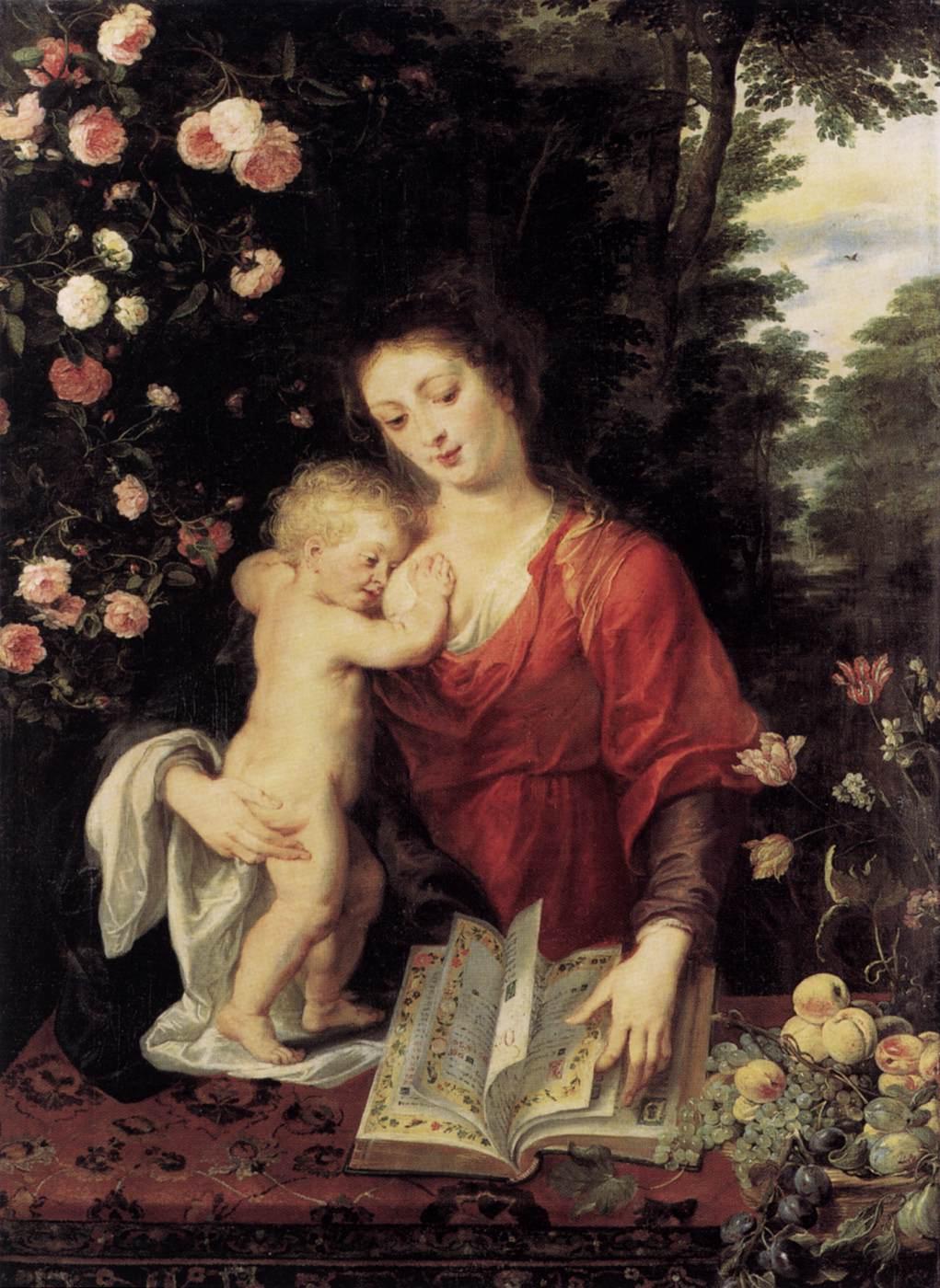 A Virgem e a Criança, óleo de Peter Paul Rubens, 1624