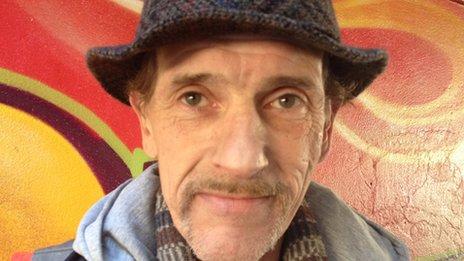 Rene, 52 anos, utente do projecto