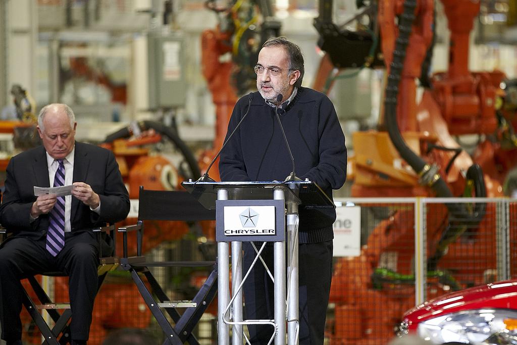O CEO do grupo Chrysler,  Sergio Marchionne