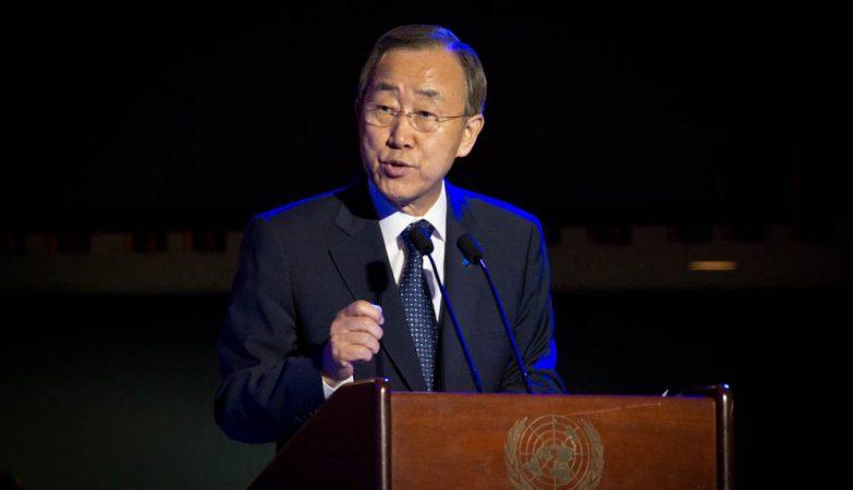 O secretário-geral da Organização das Nações Unidas, Ban Ki-moon