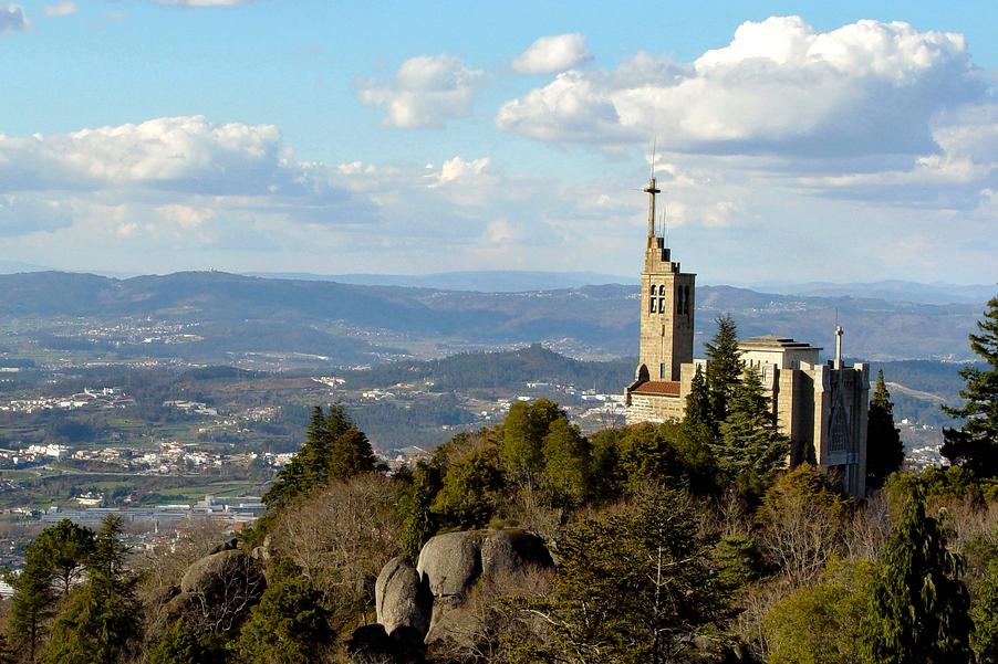 O Santuário da Penha, em Guimarães