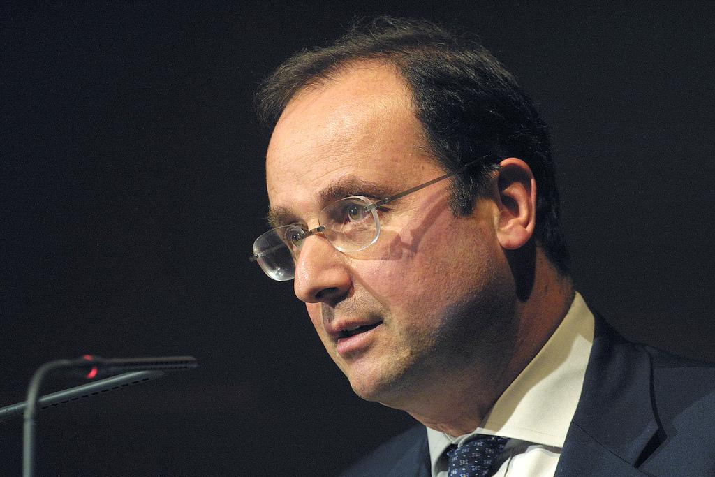 O Presidente francês, François Hollande.