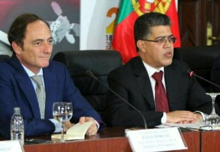 O ministro venezuelano de Relações Exteriores, Elías Jaua e o vice-primeiro-ministro de Portugal, Paulo Portas.