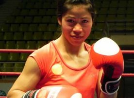 Mary Kom lançou o First Female Fight Club em Majipur, na Índia