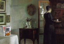 """Quiet Morning, after Carl Vilhelm Holsøe"""