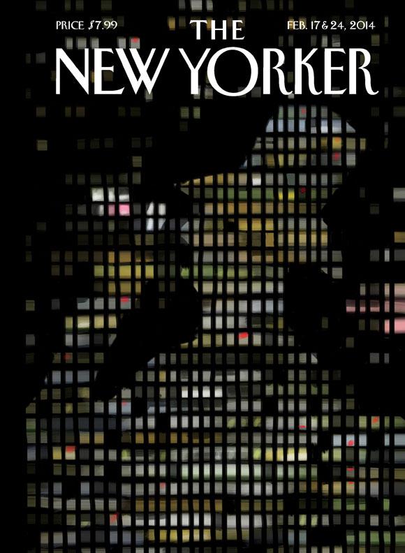 Capa do 89º aniversário da New Yorker, desenhada por Jorge Colombo